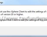 vSphere Client 5.5 U2 ile Hardware Version 10 VM