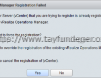 VCOPS extension'ları nasıl silinir?