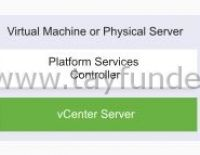 vCenter Server Appliance Nedir? Embedded ve External Deployment