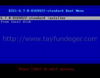 VMware vSphere ESXi 6.7 Kurulumu