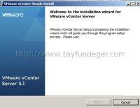 VMware vCenter 5.1 Kurulumu Bölüm 3