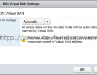 VSAN Cluster – Manual or Automatic mode