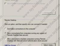 Sunucularda Remote Desktop for Administration Etkinleştirmek