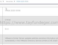 VMSA-2020-0006 – Önemli