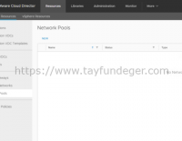 Cloud Director Network Pool