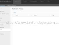 Cloud Director Network Pool
