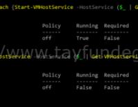 Tüm ESXi Host'ların SSH'ı Nasıl Açılır?