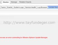 VMware vSphere Update Manager Web Client hatası