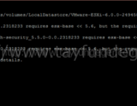 ESXi 6 Upgrade Error NSX