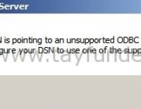 DSN is pointing to an unsupported ODBC driver