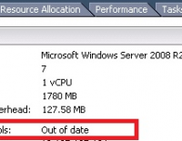 VMware Tools is out of date.