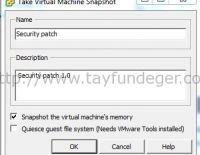 Take Virtual Machine Snapshot