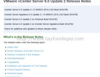 vSphere 6.0 Update 2 Release oldu