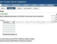 vCenter Server Appliance Embedded Database