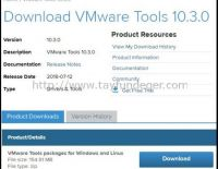 VMware Tools 10.3.0 ve PSOD