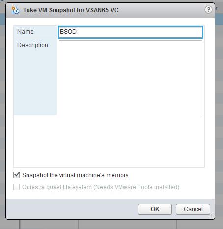 Snapshot the virtual machine's memory seçeneğini seçerek virtual machine'in  snapshot'ını alıyoruz.