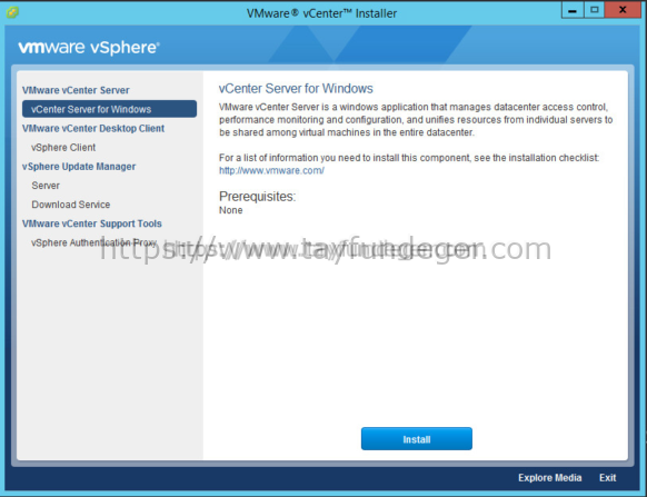 vCenter Server 6 installation