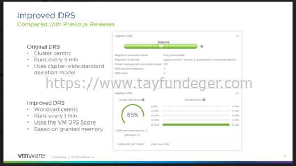vSphere 7 DRS Yenilikleri