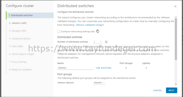 VSAN Distributed Switch