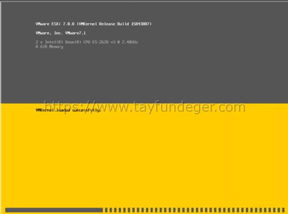 VMware vSphere ESXi 7 Kurulumu