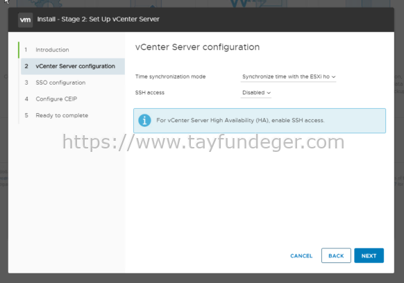 vCenter Server 7 Kurulumu