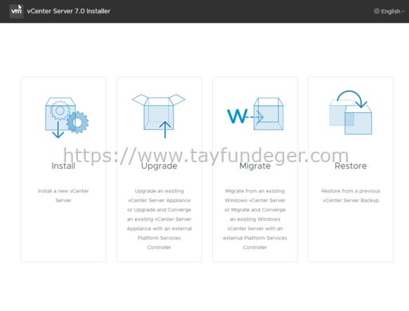 vCenter Server 6.7 to vCenter Server 7 Upgrade