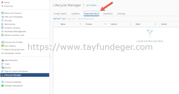 Lifecycle Manager ile ESXi Upgrade