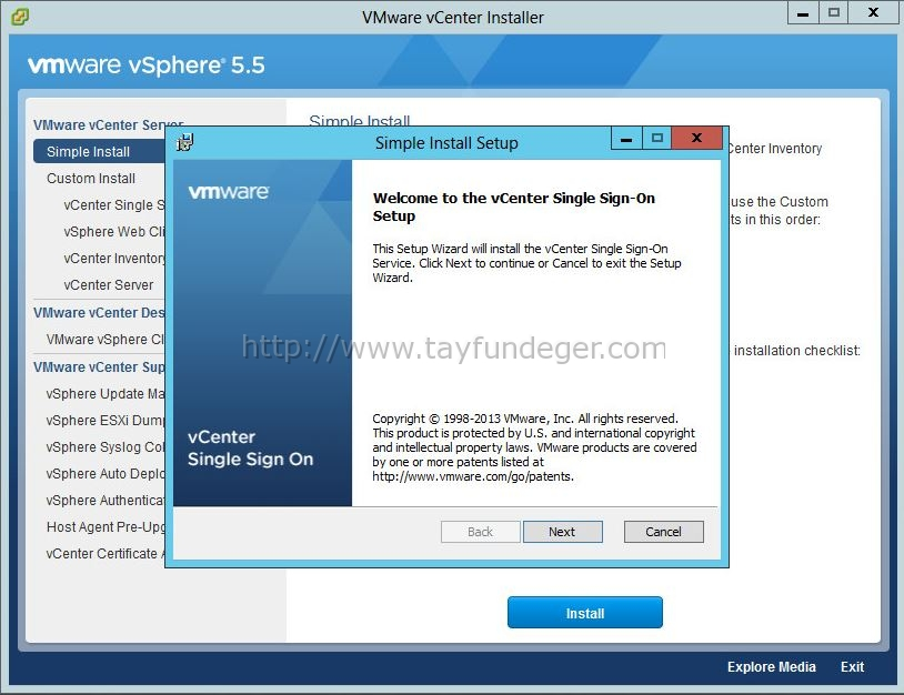 vcenter55-simple-install