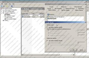 Mailbox Setting-Storage Quotas