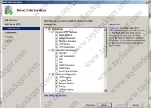 Select Role Services