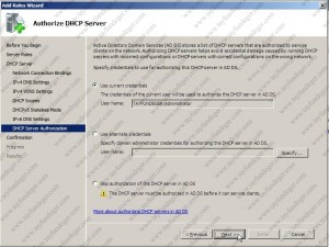 Authorize DHCP Server