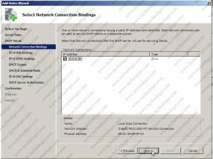 Select Server Bindings