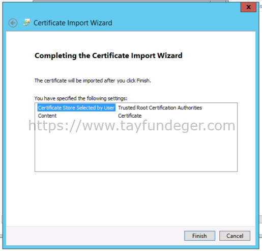 vCenter Certificate Import