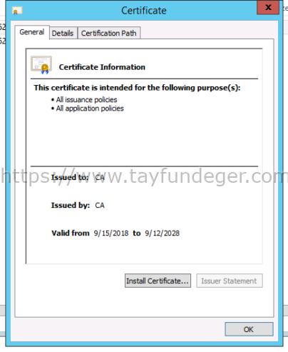 vCenter Certificate