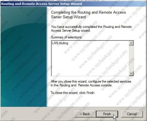 Completing the Routing and Remote Access