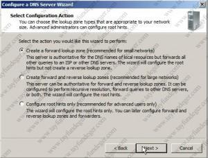 Configure a DNS Server Wizard