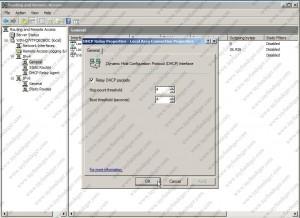 DHCP Relay Properties