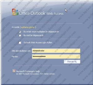 Exchange Server 2007 Login