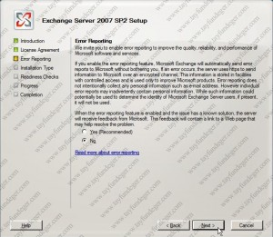 Exchange Server 2007 Error Reporting
