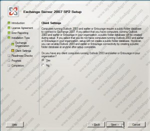 Exchange Server 2007 Client Settings