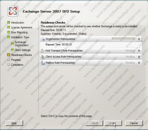 Exchange Server 2007 Readiness Checks