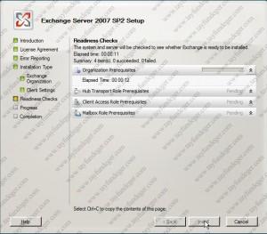 Exchange Server 2007 Readiness Checks