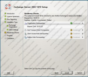 Exchange Server 2007 Readiness Check Complate