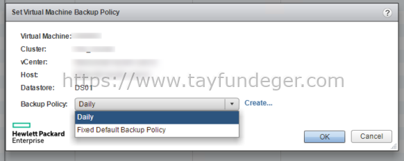 HPE SimpliVity Backup Policy