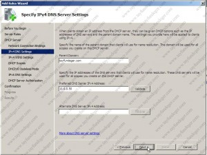 Specify IPv4 DNS Server Settings