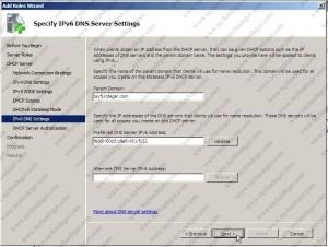 IPv6 DNS Server Settings
