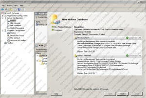 NewMailboxDatabaseComplate
