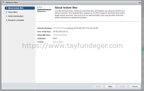 HPE SimpliVity File Restore