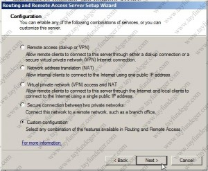 Routing And Remote Access Server Configuration