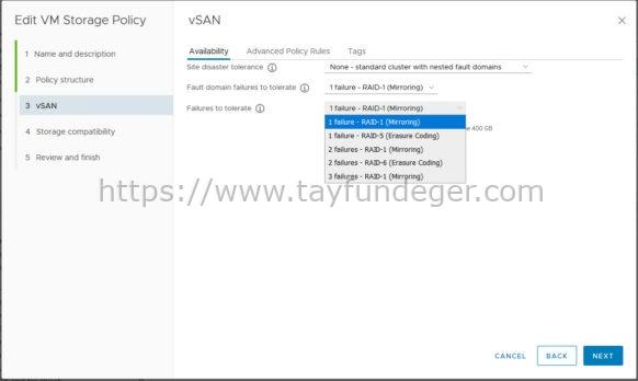 VSAN - RAID 6 Erasure Coding